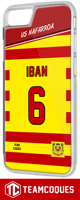 Coque foot rugby US NAFARROA (Amateur) - flocage 100% personnalisable - iPhone smartphone - TEAMCOQUES
