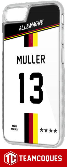 Coque foot ALLEMAGNE - flocage 100% personnalisable - iPhone smartphone - TEAMCOQUES