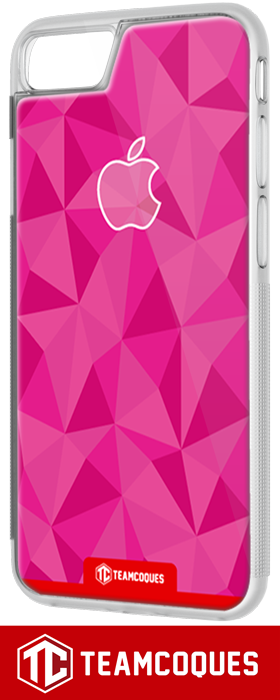 Coque design APPLE POMME FACETTE ROSE - iPhone smartphone - TEAMCOQUES