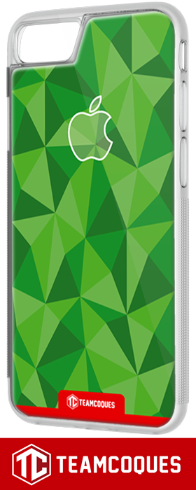 Coque design APPLE POMME FACETTE VERT - iPhone smartphone - TEAMCOQUES