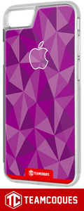 Coque design APPLE POMME FACETTE VIOLET - iPhone smartphone - TEAMCOQUES