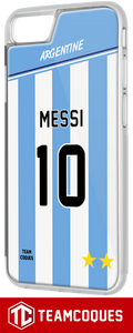 Coque foot ARGENTINE - flocage 100% personnalisable - iPhone smartphone - TEAMCOQUES