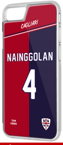 Coque foot CAGLIARI - flocage 100% personnalisable - iPhone smartphone - TEAMCOQUES