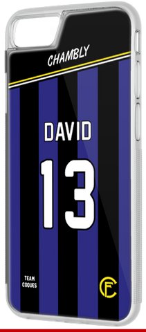 Coque foot CHAMBLY - flocage 100% personnalisable - iPhone smartphone - TEAMCOQUES