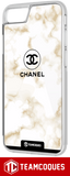 Coque design CHANEL N°5 MARBRE OR- iPhone smartphone - TEAMCOQUES