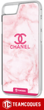 Coque design CHANEL N°5 ROSE - iPhone smartphone - TEAMCOQUES