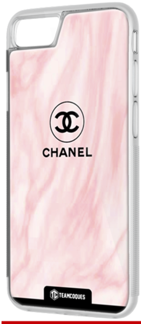 Coque design CHANEL N°5 VAGUE ROSE - iPhone smartphone - TEAMCOQUES