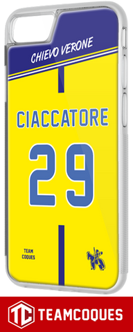 Coque foot CHIEVO VERONE - flocage 100% personnalisable - iPhone smartphone - TEAMCOQUES