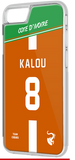 Coque foot COTE D'IVOIRE - flocage 100% personnalisable - iPhone smartphone - TEAMCOQUES