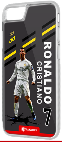 Coque foot CRISTIANO RONALDO REAL MADRID - flocage 100% personnalisable - iPhone smartphone - TEAMCOQUES