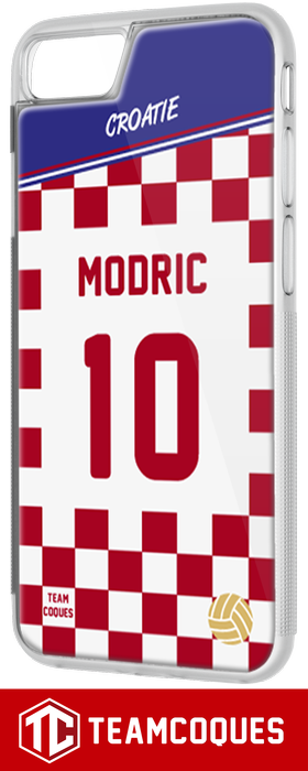 Coque foot CROATIE - flocage 100% personnalisable - iPhone smartphone - TEAMCOQUES