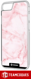 Coque design MARBRE ROSE - iPhone smartphone - TEAMCOQUES