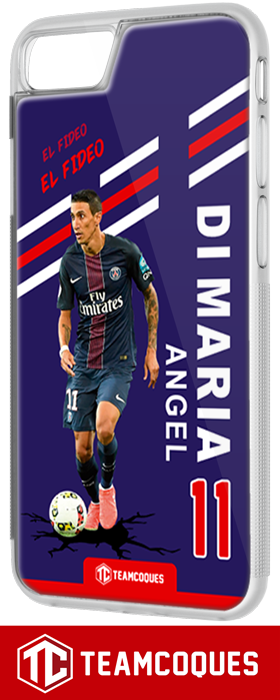 Coque foot ANGEL DI MARIA PARIS PSG - flocage 100% personnalisable - iPhone smartphone - TEAMCOQUES