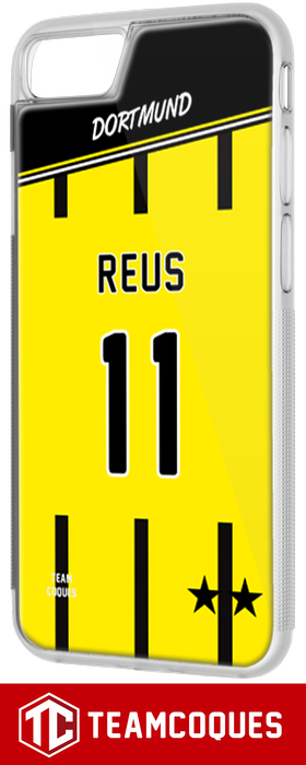 Coque foot DORTMUND - flocage 100% personnalisable - iPhone smartphone - TEAMCOQUES