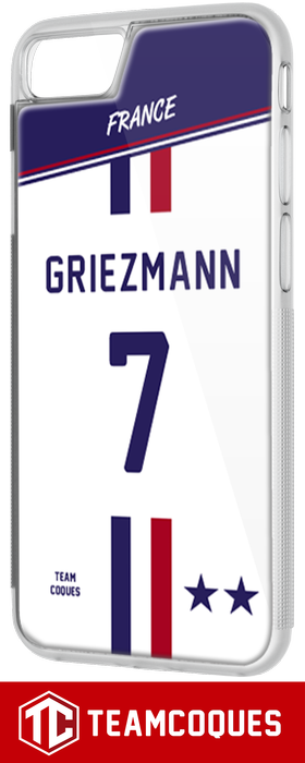Coque foot EQUIPE DE FRANCE 2018 EXTERIEUR - flocage 100% personnalisable - iPhone smartphone - TEAMCOQUES
