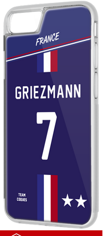 Coque foot EQUIPE DE FRANCE 2018 DOMICILE - flocage 100% personnalisable - iPhone smartphone - TEAMCOQUES