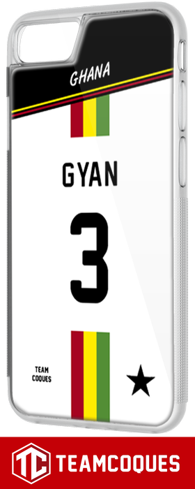 Coque foot GHANA - flocage 100% personnalisable - iPhone smartphone - TEAMCOQUES