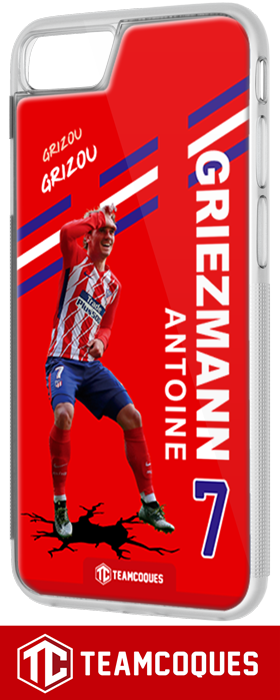 Coque foot ANTOINE GRIEZMANN ATLETICO MADRID - flocage 100% personnalisable - iPhone smartphone - TEAMCOQUES