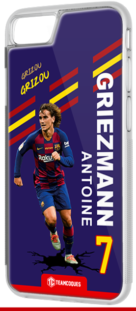Coque foot ANTOINE GRIEZMANN BARCELONE - flocage 100% personnalisable - iPhone smartphone - TEAMCOQUES