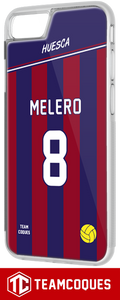 Coque foot HUESCA - flocage 100% personnalisable - iPhone smartphone - TEAMCOQUES