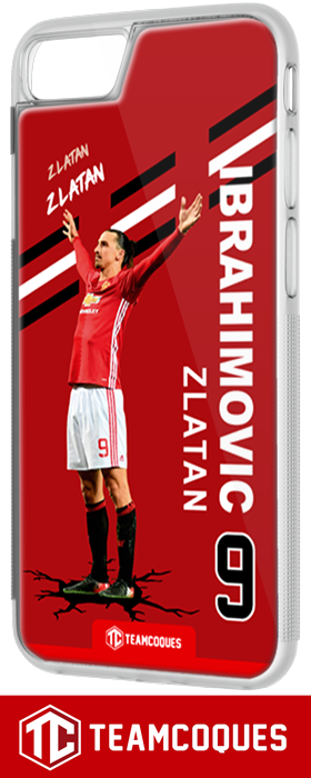 Coque foot ZLATAN IBRAHIMOVIC MANCHESTER - flocage 100% personnalisable - iPhone smartphone - TEAMCOQUES