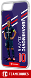 Coque foot ZLATAN IBRAHIMOVIC PARIS PSG - flocage 100% personnalisable - iPhone smartphone - TEAMCOQUES