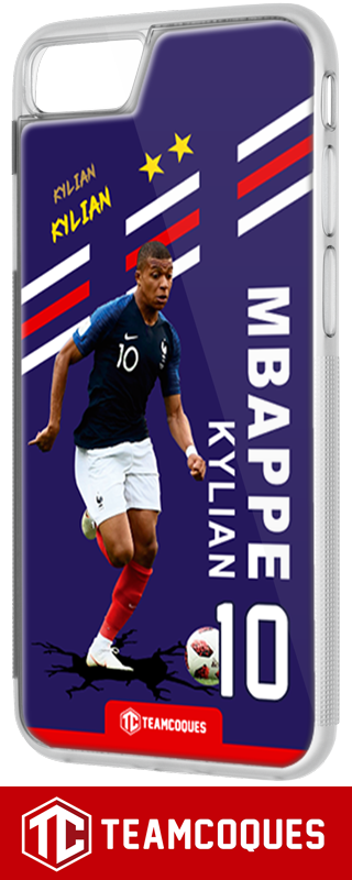 Coque foot KYLIAN MBAPPE EQUIPE DE FRANCE - flocage 100% personnalisable - iPhone smartphone - TEAMCOQUES