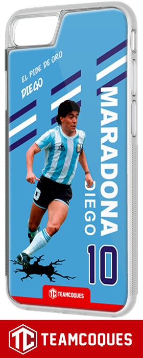 Coque foot DIEGO MARADONA ARGENTINE - flocage 100% personnalisable - iPhone smartphone - TEAMCOQUES