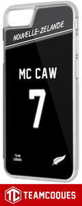 Coque rugby NOUVELLE ZELANDE ALL BLACKS - flocage 100% personnalisable - iPhone smartphone - TEAMCOQUES