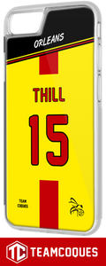 Coque foot ORLEANS - flocage 100% personnalisable - iPhone smartphone - TEAMCOQUES