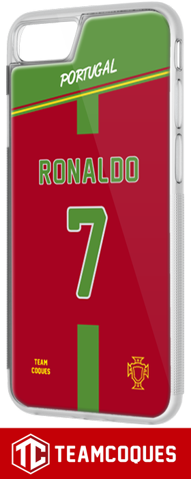 Coque foot PORTUGAL - flocage 100% personnalisable - iPhone smartphone - TEAMCOQUES