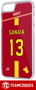 Coque foot RODEZ - flocage 100% personnalisable - iPhone smartphone - TEAMCOQUES