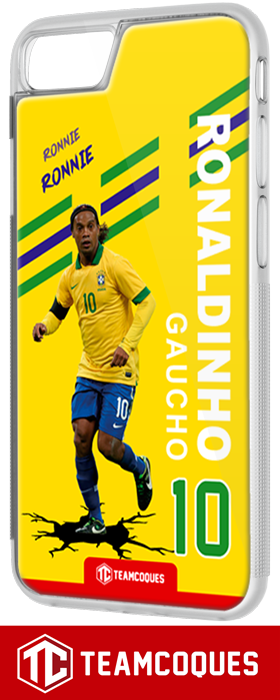 Coque foot RONALDINHO BRESIL - flocage 100% personnalisable - iPhone smartphone - TEAMCOQUES