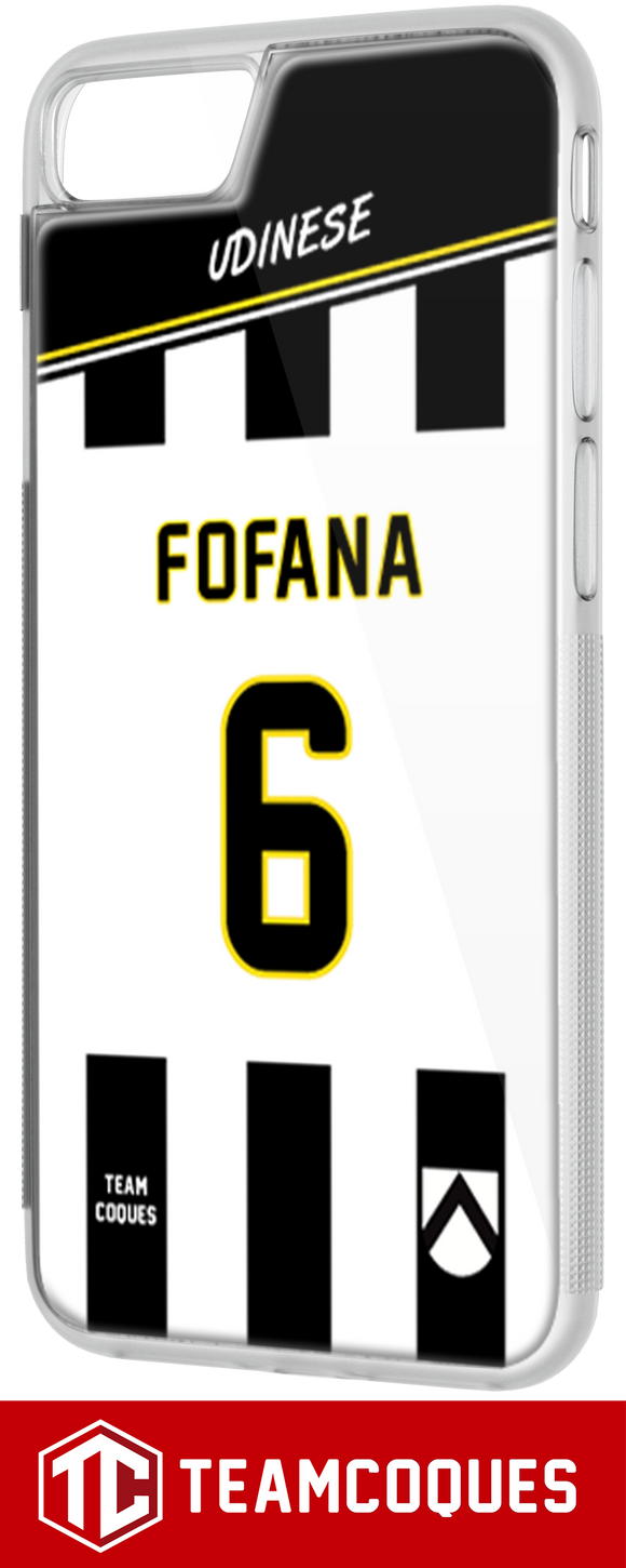Coque foot UDINESE - flocage 100% personnalisable - iPhone smartphone - TEAMCOQUES