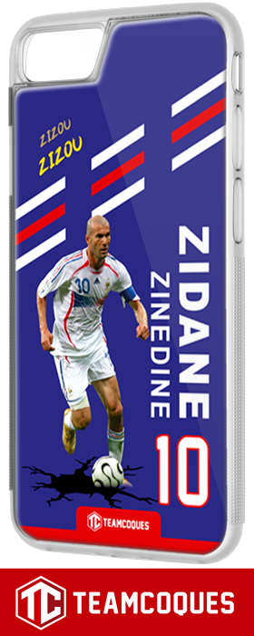 Coque foot ZINEDINE ZIDANE ZIZOU FRANCE - flocage 100% personnalisable - iPhone smartphone - TEAMCOQUES