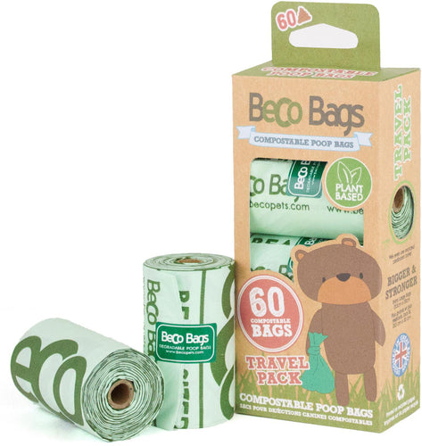 Compostable Dog Poop Bags - 60 bags