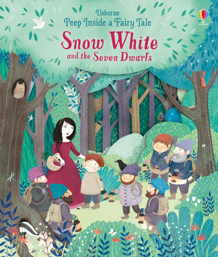 Snow White and the Seven Dwarves Peep Inside a Fairy Tale Hardback by Anna Milbourne