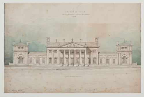 Charles Barry Harewood House Plan Print