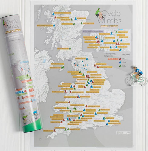 Cycle Climbs: Collect and Scratch Map