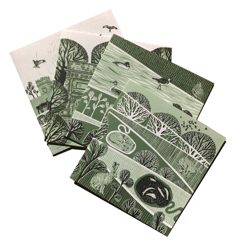 Harewood House Card Multi Pack - Folded Forest