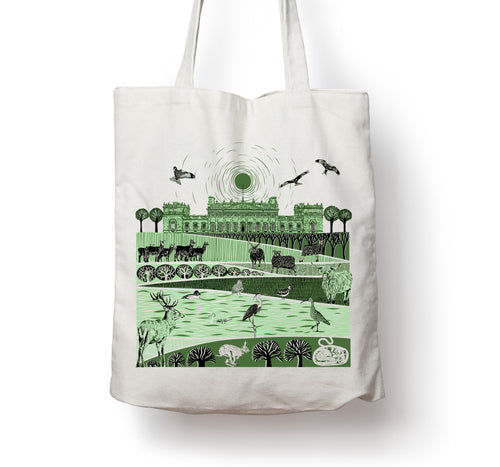 Folded Forest Harewood Tote bag
