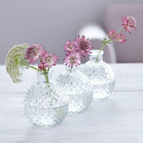 Faceted Glass Ball Vase