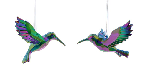 13cm petrol effect humming bird