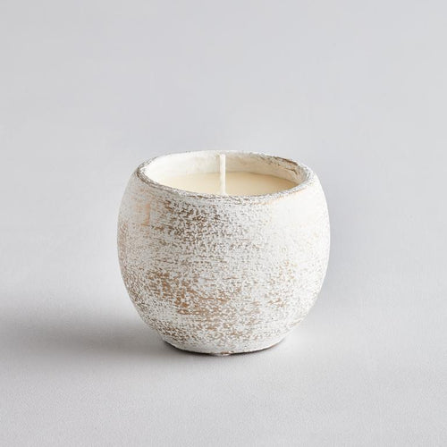 Orange & Cinnamon Candle - White Christmas Pot - St Eval