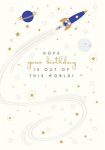 TRUE BLUE - OUT OF THIS WORLD CARD