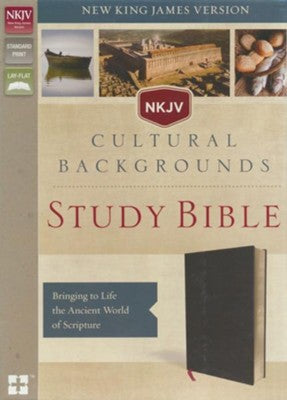 NKJV, Cultural Backgrounds Study Bible, Bonded Leather, Black