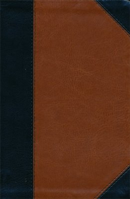 HCSB Personal Size Study Bible, Black and Tan Imitation Leather