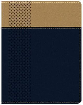 NIV, Starting Place Study Bible, Leathersoft, Blue and Tan, Comfort Print