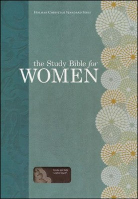 The Study Bible for Women, HCSB Edition, Smoke and Slate LeatherTouch
