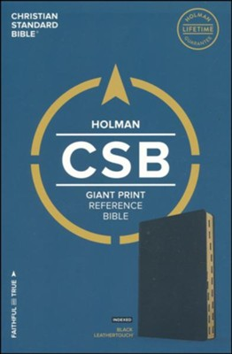 CSB Giant Print Reference Bible, Black LeatherTouch, Thumb-Indexed